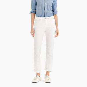 J. Crew | White Slim Broken In Boyfriend Jeans